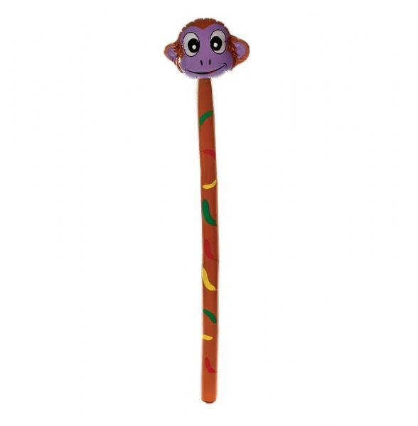 Large Inflatable Monkey Stick 145cm - Zoo Animal Party Toy